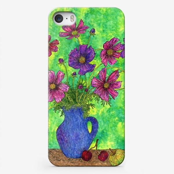 Чехол iPhone «Космея букет»