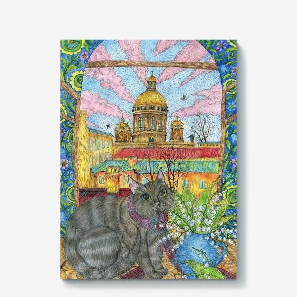 Холст «Весна в Петербурге»
