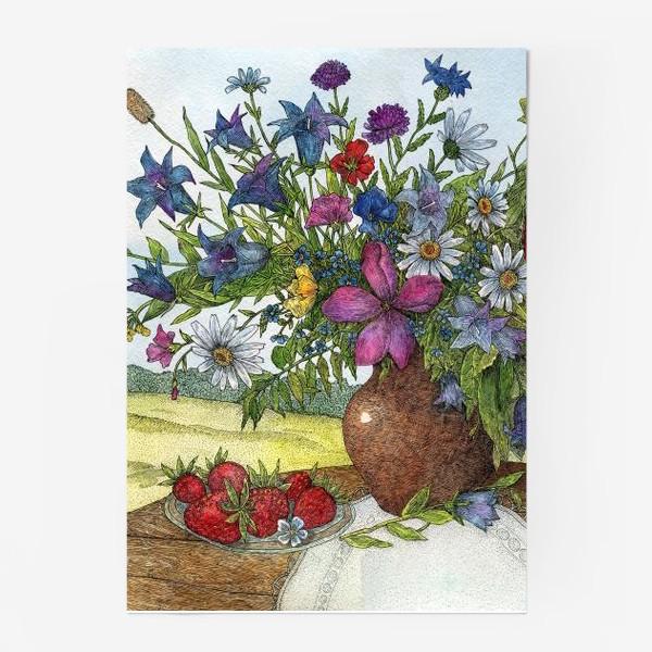Постер «Большой букет полевых цветов»