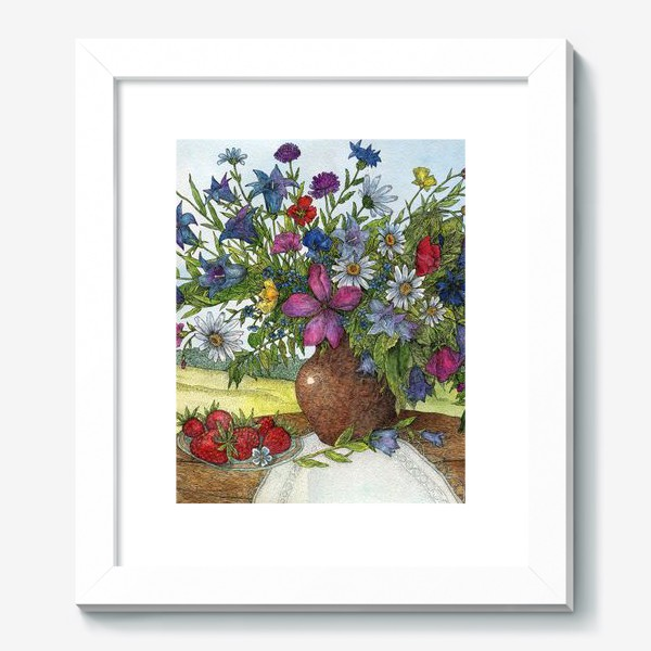 Картина «Большой букет полевых цветов»
