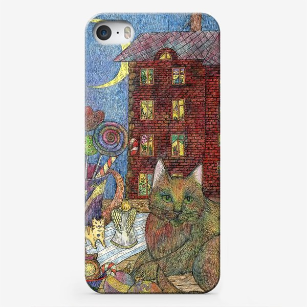 Чехол iPhone «Кот и Новый год»