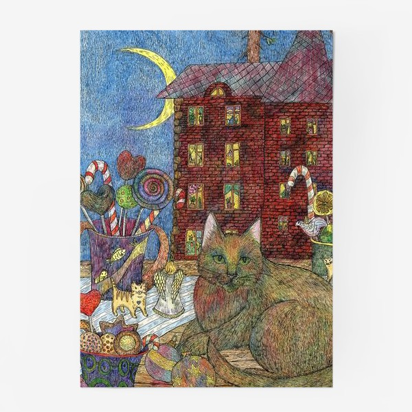 Постер «Кот и Новый год»