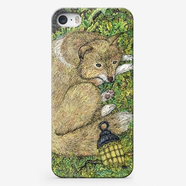 Чехол iPhone «Собака и ворон»