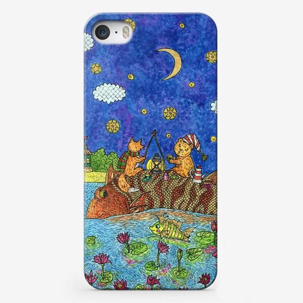 Чехол iPhone «Лисенок и мишка»