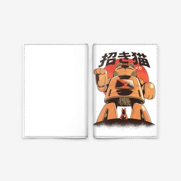 Обложка для паспорта «Японский Меха Кот»