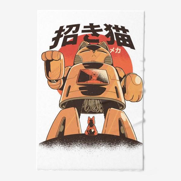 Полотенце «Японский Меха Кот»