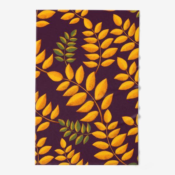 Полотенце «осенние листья»