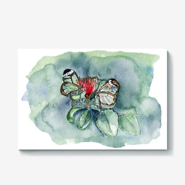 Холст «Стеклянные бабочки»