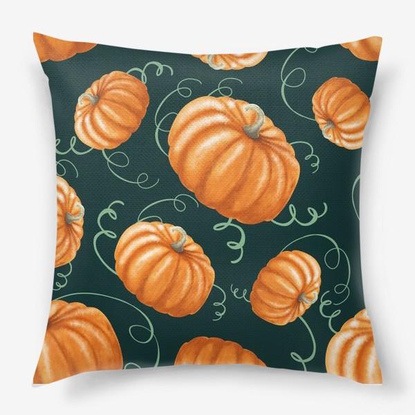 Подушка «оранжевые тыквы»