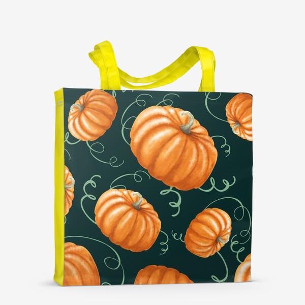 Сумка-шоппер «оранжевые тыквы»