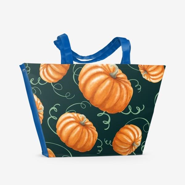 Пляжная сумка «оранжевые тыквы»