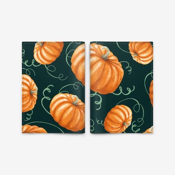 Обложка для паспорта «оранжевые тыквы»