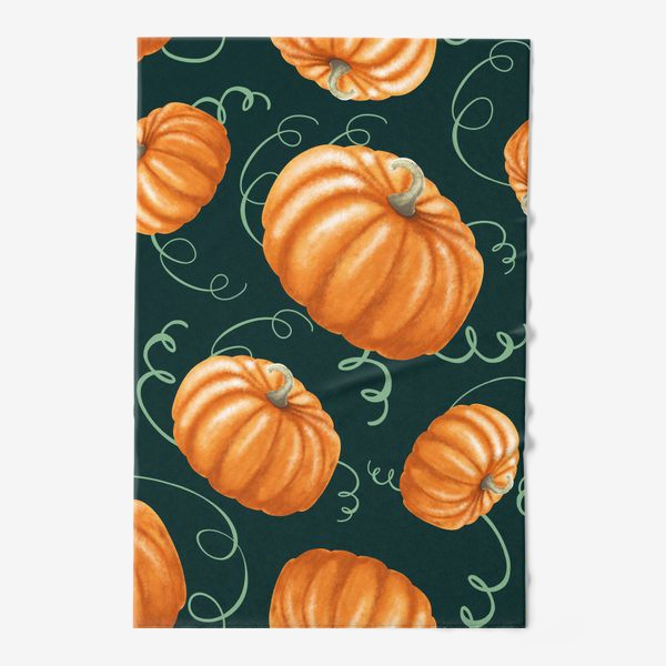Полотенце «оранжевые тыквы»