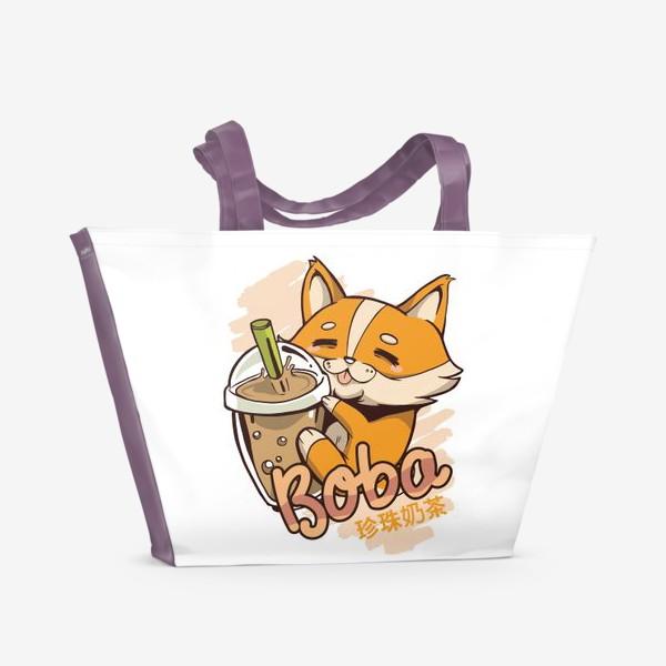Пляжная сумка «Корги Боба»