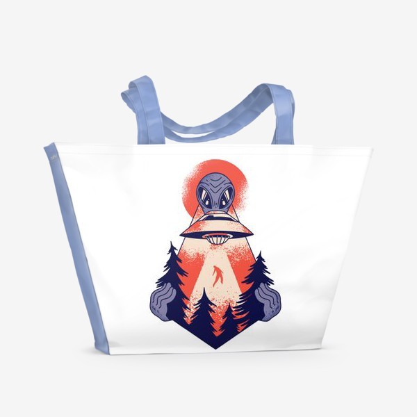 Пляжная сумка «Похищение пришельцами»