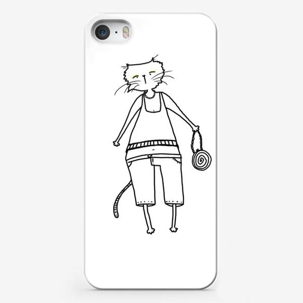 Чехол iPhone «Гламурное кисо. Модная, стильная кошка»