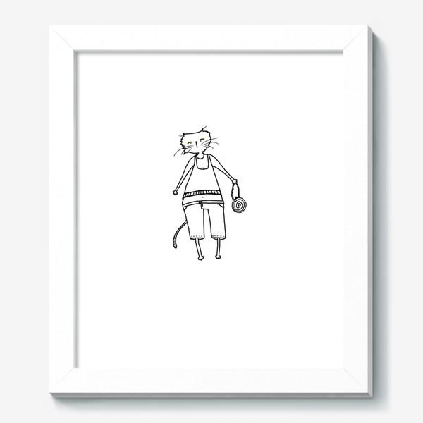 Картина «Гламурное кисо. Модная, стильная кошка»