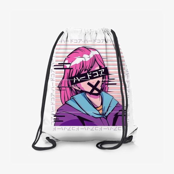 Рюкзак «Аниме девочка в стиле Glitch»