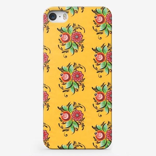 Чехол iPhone «Городецкие цветы»