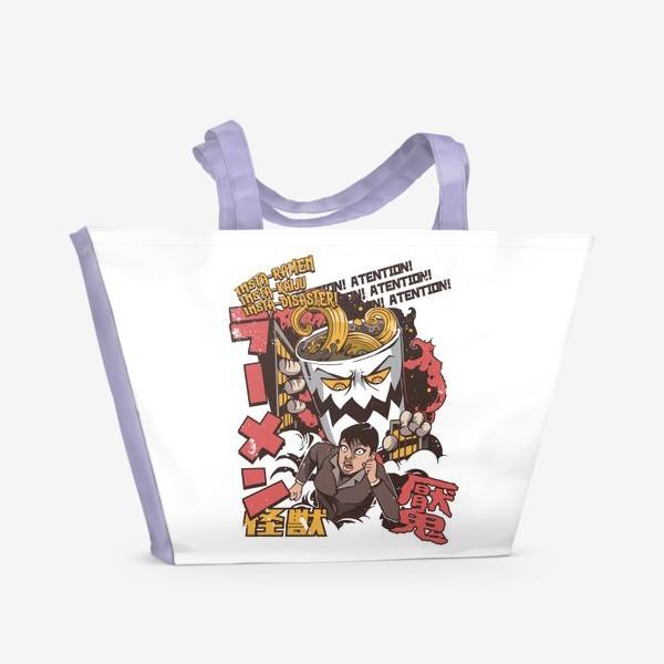 Пляжная сумка «Атака гигантского Рамена»