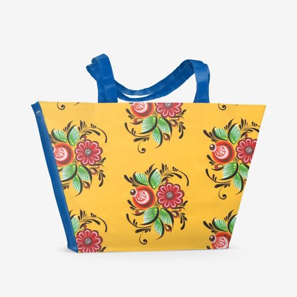 Пляжная сумка «Городецкие цветы»