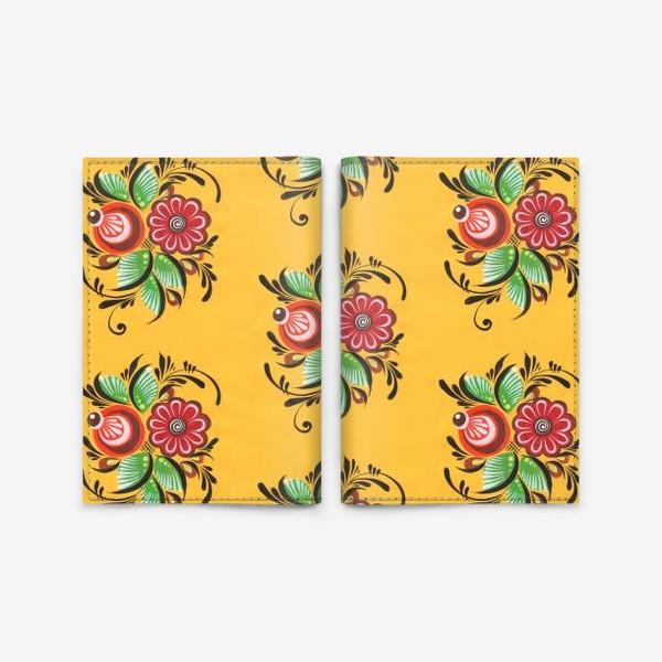 Обложка для паспорта «Городецкие цветы»