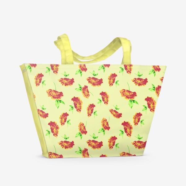 Пляжная сумка «Цветы осени»