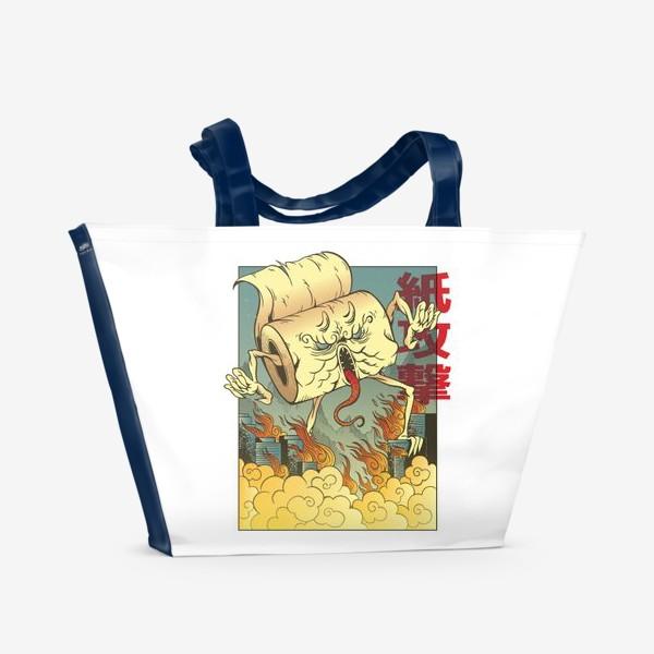 Пляжная сумка «Атака гигантской туалетной бумаги »