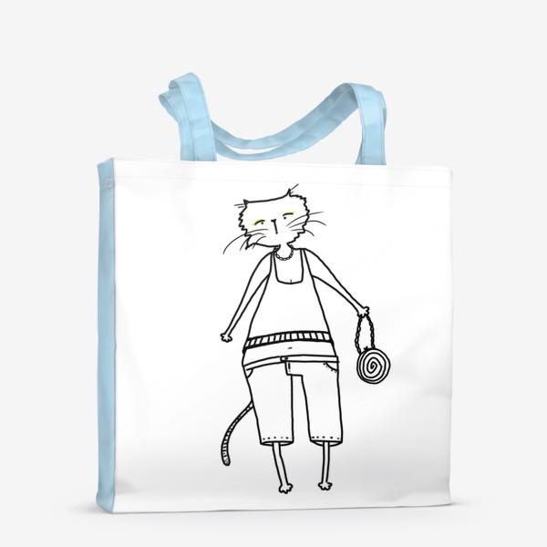 Сумка-шоппер «Гламурное кисо. Модная, стильная кошка»