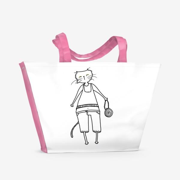 Пляжная сумка «Гламурное кисо. Модная, стильная кошка»