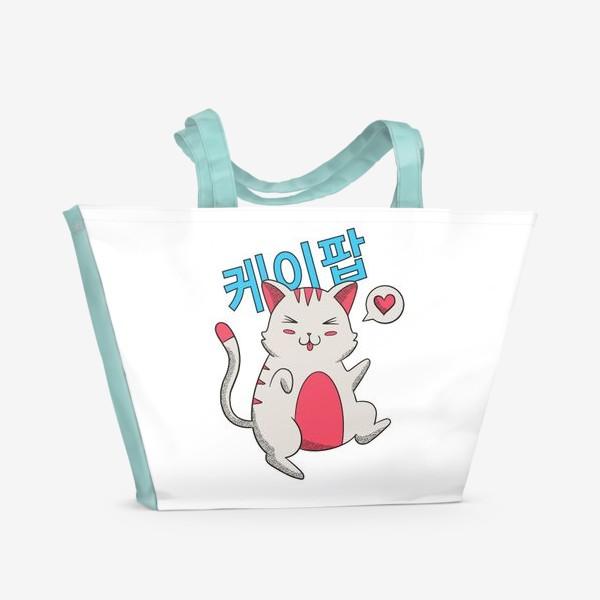 Пляжная сумка «K-POP Котик»