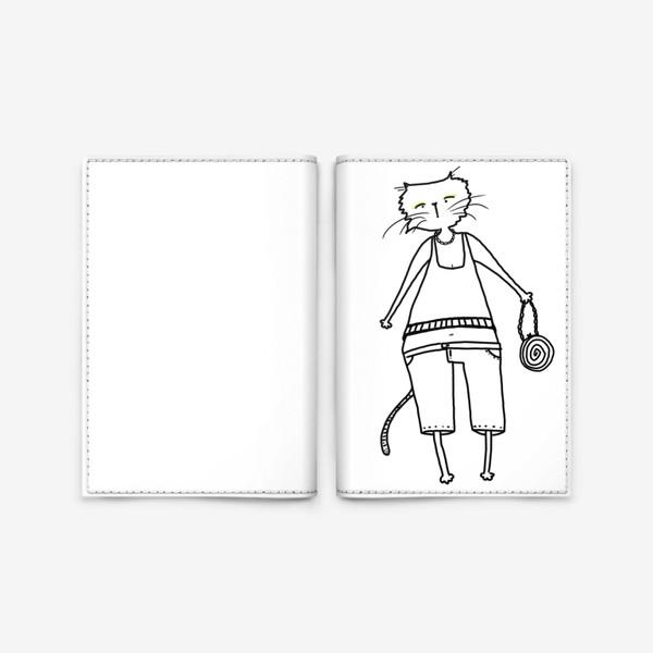 Обложка для паспорта «Гламурное кисо. Модная, стильная кошка»