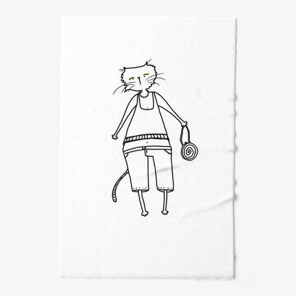 Полотенце «Гламурное кисо. Модная, стильная кошка»