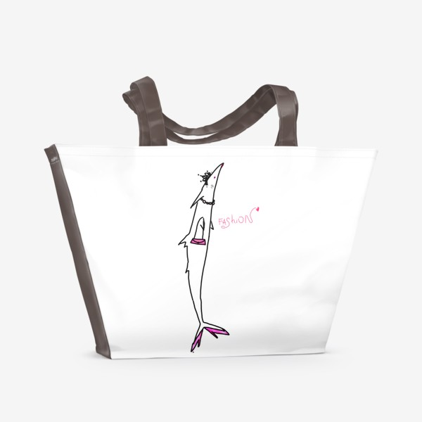 Пляжная сумка «Fashion-рыба. Гламур. Стиль. Роскошь. »