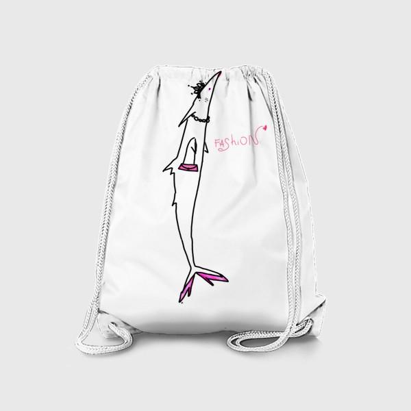 Рюкзак «Fashion-рыба. Гламур. Стиль. Роскошь. »