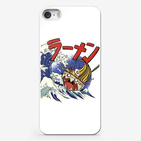 Чехол iPhone «Большая Волна в Канагаве и Рамен»