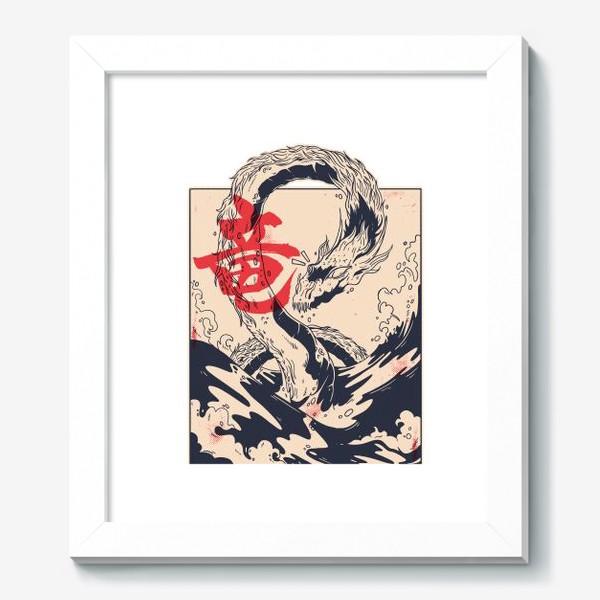 Картина «Морской дракон в японском стиле»