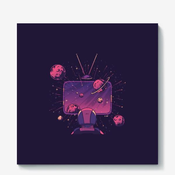 Холст «Космический телевизор»