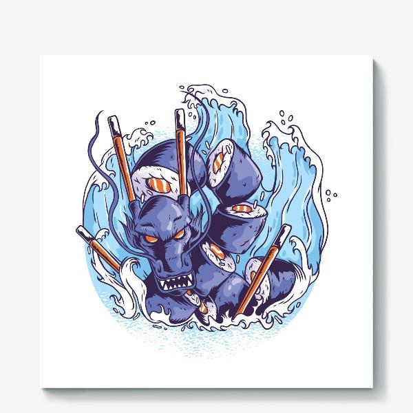 Холст «Морской суши дракон»