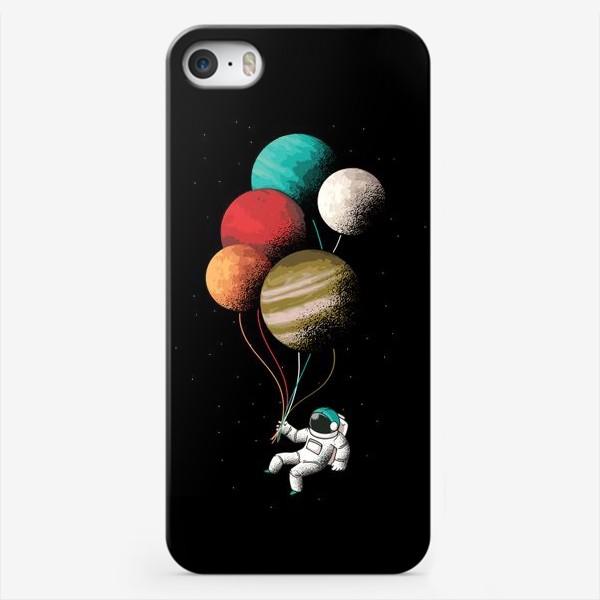 Чехол iPhone «Астронавт с шариками»
