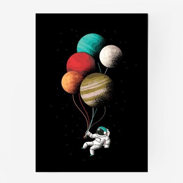 Постер «Астронавт с шариками»