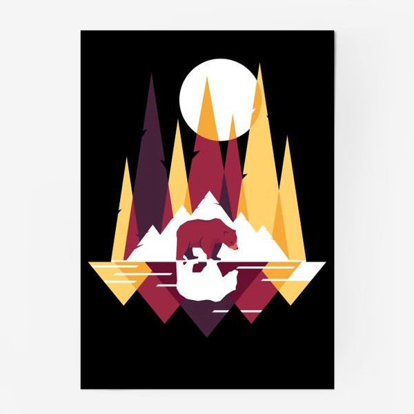Постер «Геометрический лес»