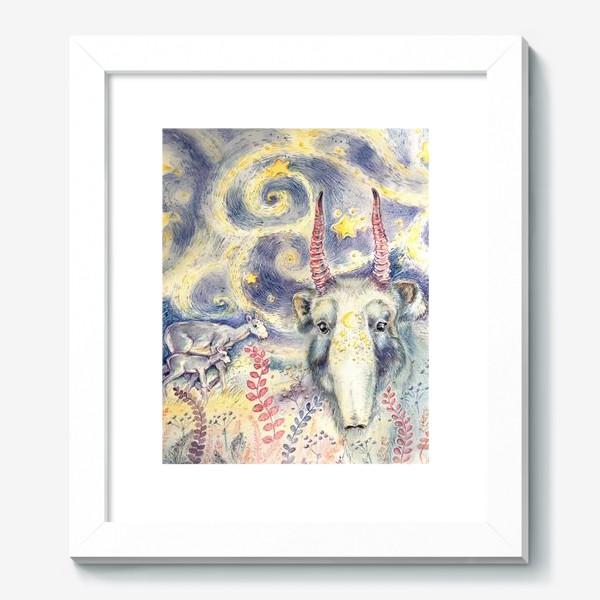 Картина «Фантастический сайгак и звездная ночь»