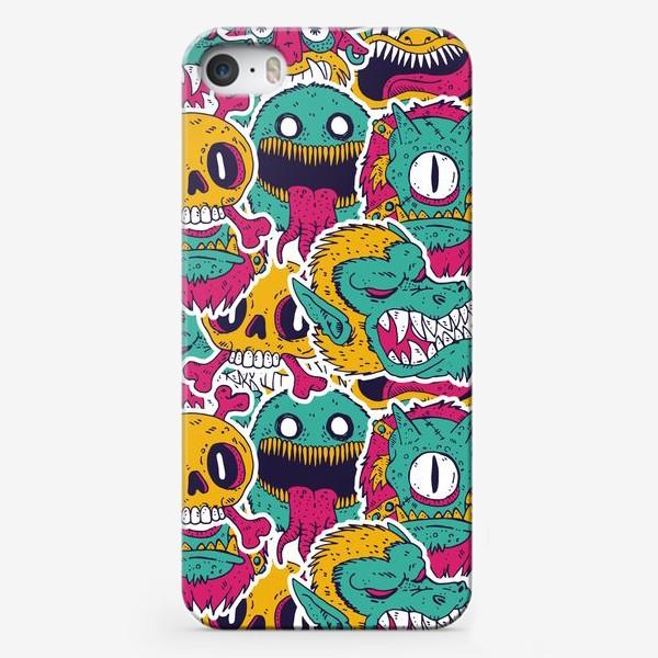 Чехол iPhone «Смешные монстрики»