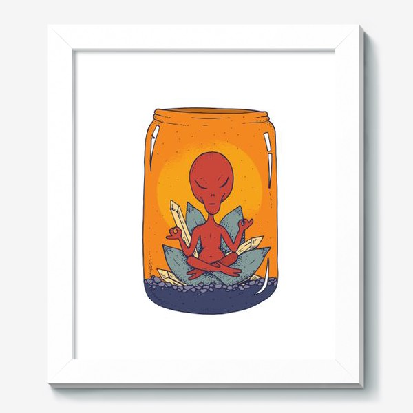 Картина «Медитация пришельца в банке»