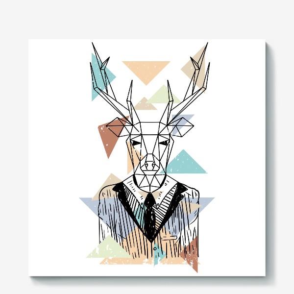 Холст «Геометрический олень»