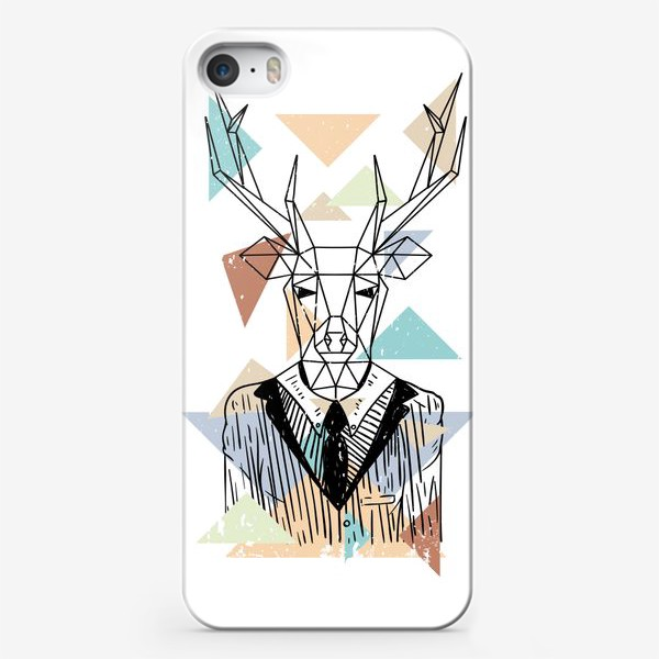 Чехол iPhone «Геометрический олень»