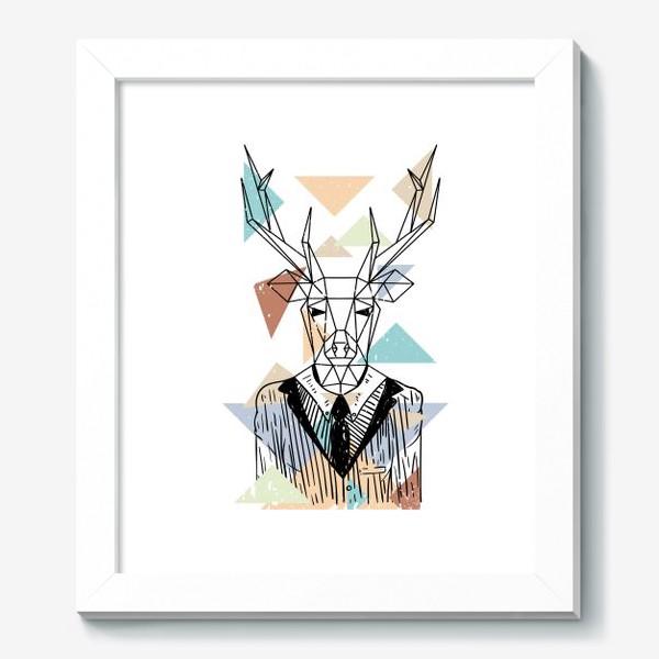 Картина «Геометрический олень»