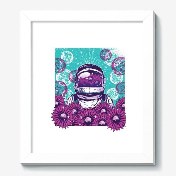 Картина «Космонавт с цветами»