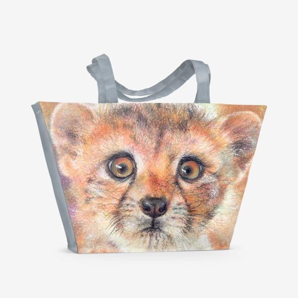 Пляжная сумка «Лео,леопард»